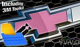 VViViD XPO Gloss Pink Chevy Bowtie Logo Wrap Kit (4 rolls (11.8\