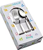 Tiny Dining 36 Piece Kids Infants Childrens Junior Cutlery Set (12 Small Table Knives, 12 Small Table Forks, 12 Small Dessert Spoons) - Ideal for home, school or lunchboxes