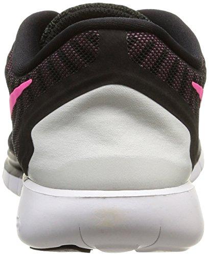 Nike Free 5.0, Zapatillas de Running Para Mujer Black/Pink Pow-Pnk Fl-Pnk Glw