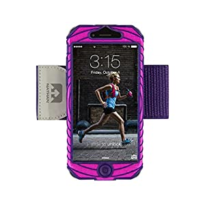 Nathan SonicBoom iPhone 6 Armband, Floro Fuchsia/Imperial Purple Andean Toucan