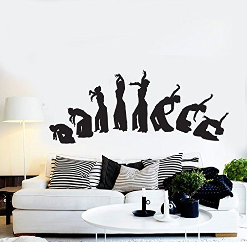 Negativ Wall Decal Belly Dance Dancing Girl Vinyl Removable Mural Art Decoration Stickers for Home Bedroom Nursery Living Room Kitchen by Negativ