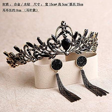 Corona negra retro tiara novia atmósfera corona de boda ...