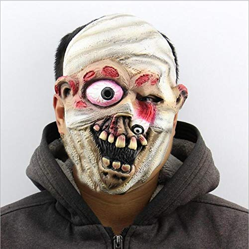 Vincent-Prestiges - Scary Latex Halloween Mask Explosive Bleeding Mummy Zombie Cosplay Full Face Horror Masquerade Adult Ghost Mask Party Supplies