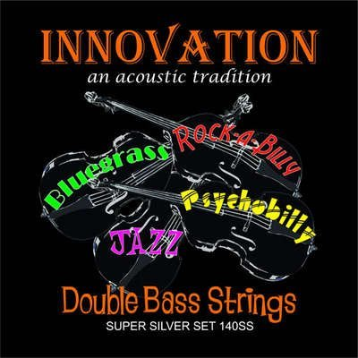 Innovation Double Bass Medium Gauge Super Silver Tension Strings - Set - 90140SS