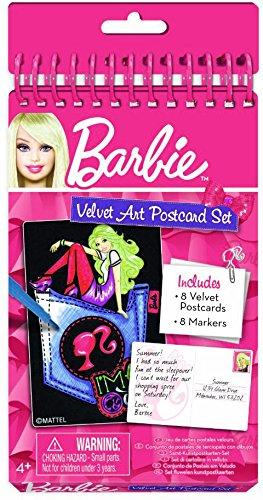 Fashion Angels 1 Free Mini-Tapeffiti Bundle 223081 Barbie Velvet Art Postcard Set