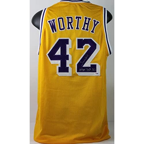 aad7e139304 30%OFF Lakers James Worthy 'NBA Top 50' Authentic Signed Jersey Autographed  PSA