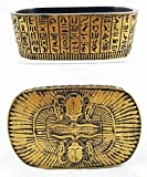 Egyptian Decor Scarab Ra Solar Amulet Hieroglyph Jewelry Box Trinket Collectible