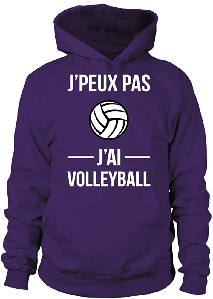 TEEZILY Sweat /à Capuche Unisex Jpeux Pas JAi Volleyball