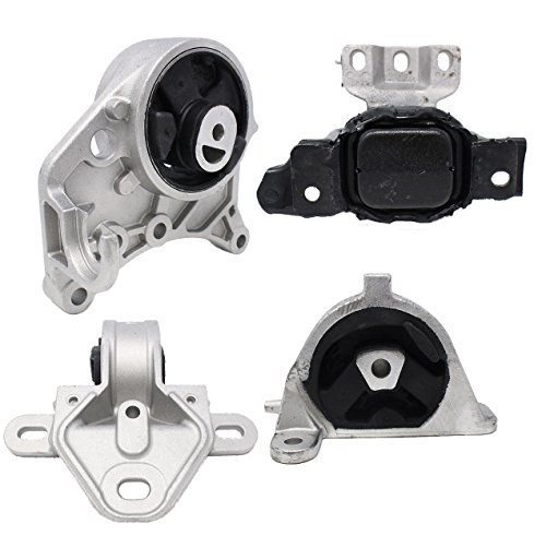 Engine Motor and Trans Mount Set of 4 for 2001-2007 Chrysler Dodge Compatible with A2926 A2928 A2925 A2927