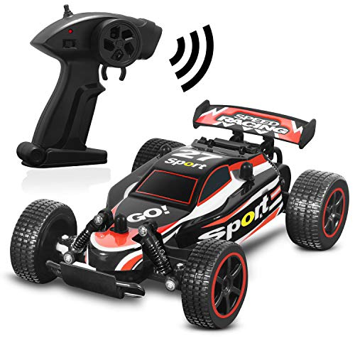 Blexy RC Racing Cars 2.4Ghz High Speed Radio Remote Control Car 1: 20 2WD Racing Toy Cars Electric Vehicle Fast Race Buggy Hobby Car Red 211 ()