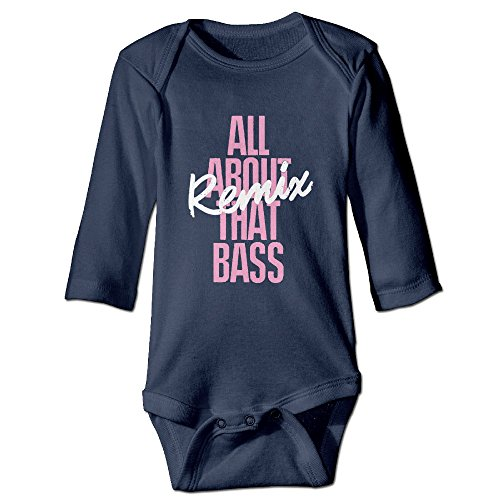 Unisex Meghan Trainor All About That Bass Baby Onesies Outfits Sleepwear Long Sleeve (Karaoke Cd All About The Bass)