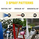 Paint Sprayer 800ml/min, TECCPO HVLP Spray Gun, 3 Pcs Copper Nozzle and 1300ml Detachable Container - with Three Spray Patterns, Flow Control for Painting Projects