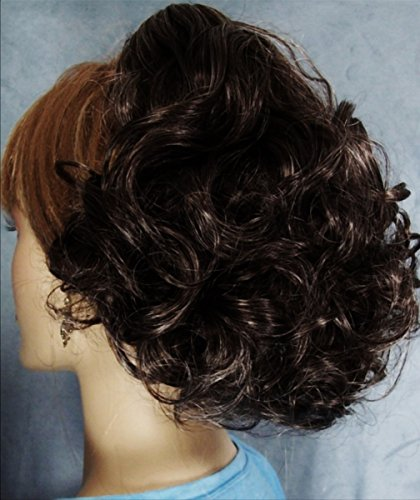 DAWN Clip On Hairpiece by Mona Lisa - 34 Dark Brown with 10% Gray