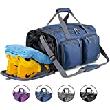 Foldable Sports Gym Bag with Wet Bag &...