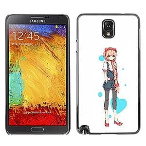 Shell-Star Art & Design plastique dur Coque de protection rigide pour Cas Case pour SAMSUNG Galaxy Note 3 III / N9000 / N9005 ( Love Heart Princess Anime Japanese )
