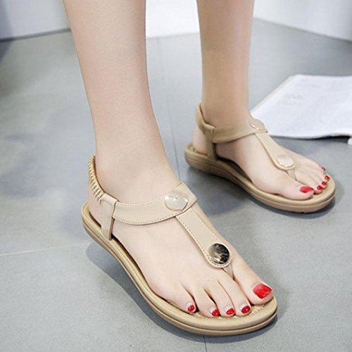 ... DAYLIN Newest Clearance Summer Women Summer Flat Shoes Bead Bohemia Lady  Slippe Sandals Rivet Peep- ... 63cb040d7185