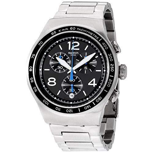 Swatch Irony The Magnificent Black Dial Stainless Steel Men's Watch YOS456G