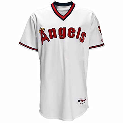 outlet store 831e2 fc869 Amazon.com : Majestic California Angels MLB Men's White ...