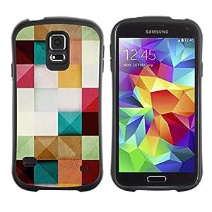 LASTONE PHONE CASE / Suave Silicona Caso Carcasa de Caucho Funda para Samsung Galaxy S5 SM-G900 / Paper Pastel Colors Square