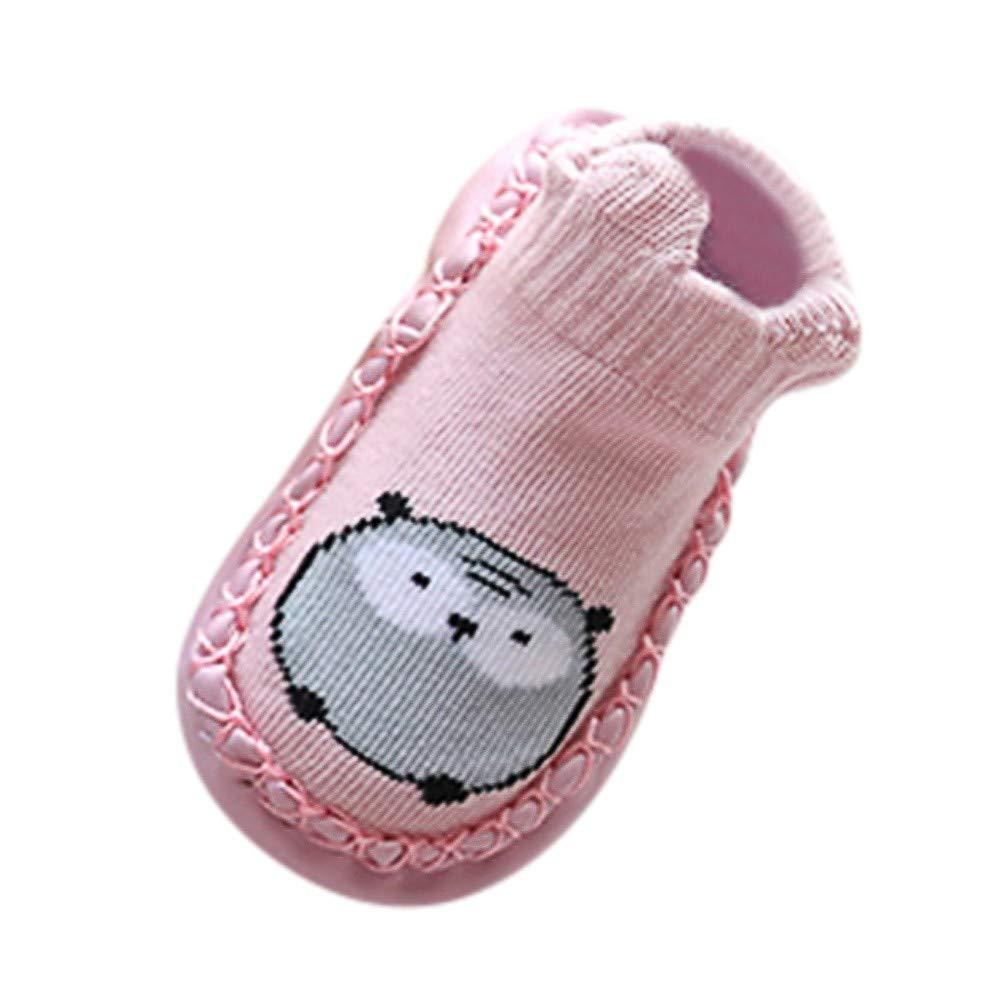 iFOMO Newborn Baby Cartoon Animal Baby Girls Boys Anti-Slip Socks Slipper Shoes Boots