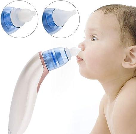 HS-ZM-01 Aspirador Nasal Claro, Limpiador de Nariz eléctrico Bebé, Nariz Moco Aspirador líquido Moco Succionador Fosa Nasal Bebés limpios Niños pequeños: Amazon.es: Hogar