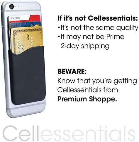 Cell Phone Wallet by Cellessentials: (for Credit Card & Id) | Works with Almost Every Phone | iPhone, Android & Most Smartphones | 3 Pc Pack (Black, Grey & Pink) 51rP73H9hsL