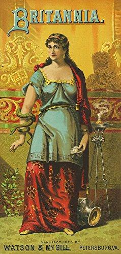 Petersburg, Virginia - Britannia Brand Tobacco Label (12x18 Art Print, Wall Decor Travel Poster)