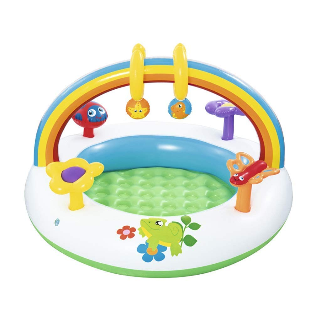 A GFF Family inflatable pool, easy to fold and transport, baby pool, inflatable paddling pool, thickened water balloon, 2 models (color  A)