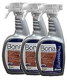 3 PACK Bona® Professional Series Natural Oil Floor Cleaner - 32oz Spray Bottle