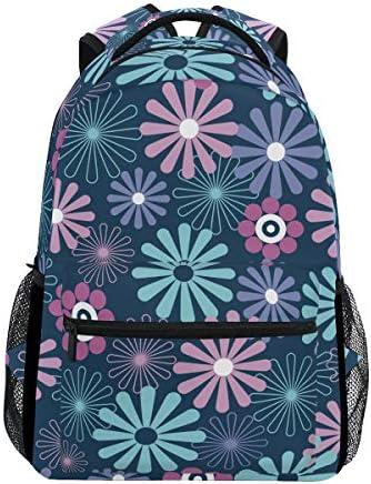 青い花カジュアルバッグ リュック リュック ショルダーバッグ 流行 おしゃれ 人気 ラップトップバッグ こども 通勤 通学