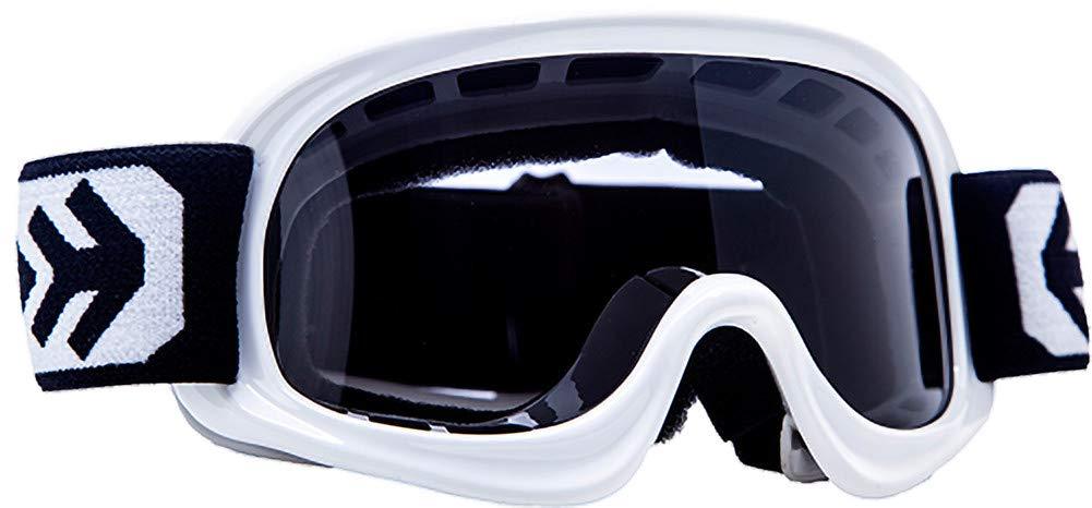 """Schwarz Armor  AG-49 /""""Black/"""" Black // Silver // Clear Kids Cross-Brille  Kinder Sport Moto Enduro Schutz-Brille MX"""