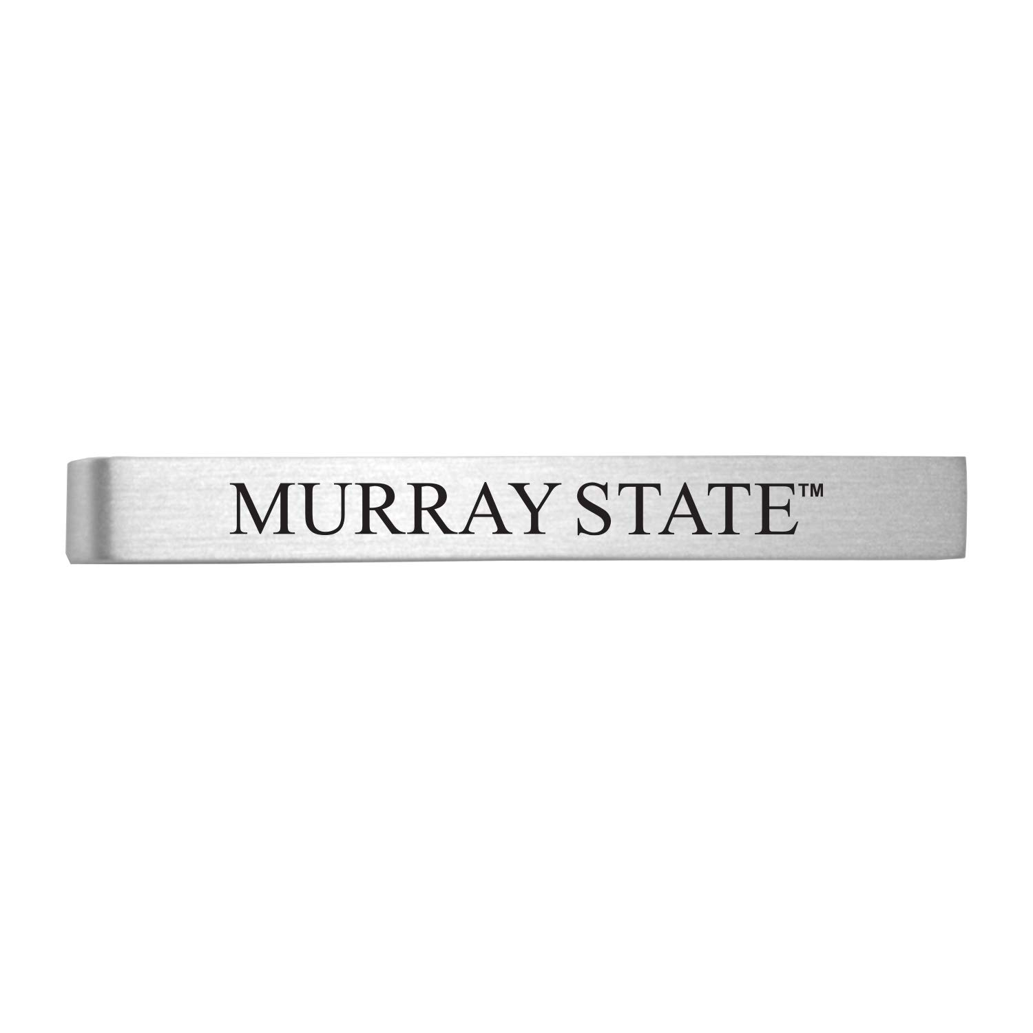 Murray State University-Brushed Metal Tie Clip-Silver