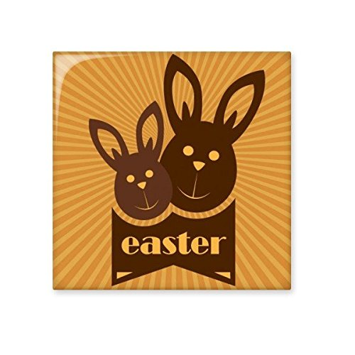 50%OFF Easter Religion Christianity Festival Cute Brown Bunny Culture Illustration Pattern Ceramic Bisque Tiles for Decorating Bathroom Decor Kitchen Ceramic Tiles Wall Tiles