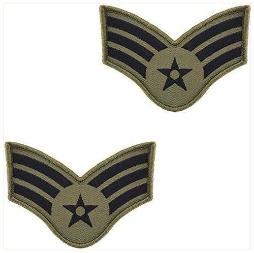 - Vanguard AIR FORCE EMBROIDERED CHEVRON: AIRMAN: SENIOR - SMALL ABU