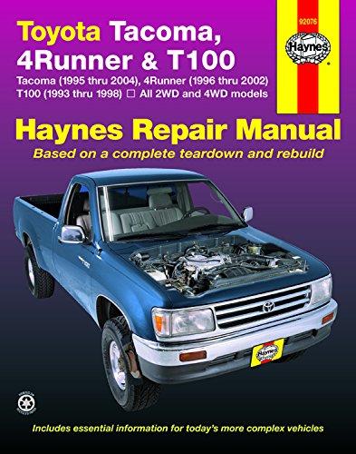 H92076 Haynes Toyota Tacoma 4Runner T100 Pick-up Truck 1993-2004 Service Repair Manual