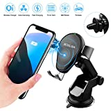 Wireless Car Charger, BOSLISA Auto-clamping Qi Wireless Charger Car Mount with 360°Air Vent Holder, Fast Charge for Samsung Note 8/7/5, S9/S8/S7, iPhone X/iPhone 8/8 Plus and More (Black)