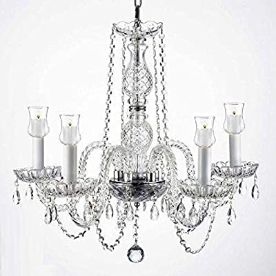 "Crystal Chandelier Lighting Chandeliers W/Candle Votives H.25"" W.24"" For Indoor/Outdoor Use! Great for Outdoor Events, Hang from Trees/Gazebo / Pergola/Porch / Patio/Tent !"