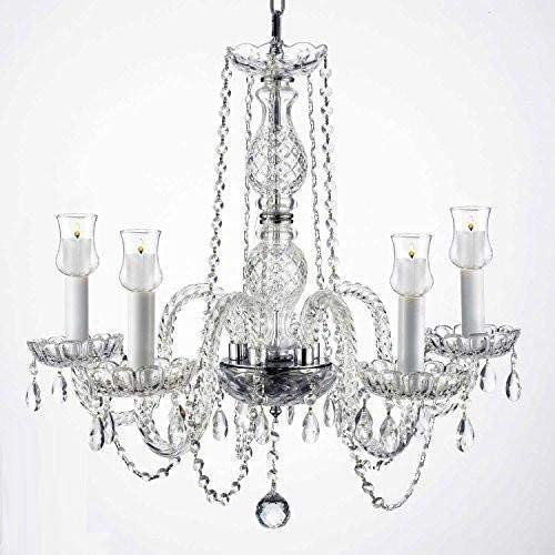 Crystal Chandelier Lighting Chandeliers W Candle Votives H.25 W.24 for Indoor Outdoor Use Great for Outdoor Events, Hang from Trees Gazebo Pergola Porch Patio Tent