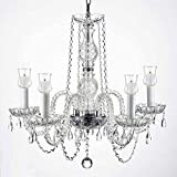 Crystal Chandelier Lighting Chandeliers W/Candle Votives H.25″ W.24″ For Indoor/Outdoor Use! Great for Outdoor Events, Hang from Trees/Gazebo / Pergola/Porch / Patio/Tent !