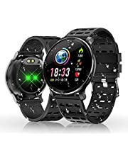 HOLALEI Smartwatch, Fitness Armband Wasserdicht Smart Watch Intelligente Fitness Tracker Aktivitäts Uhr Armbanduhr mit Pulsmesser Schlafmonitor Anruf Beachten Damen Herren für Android iOS