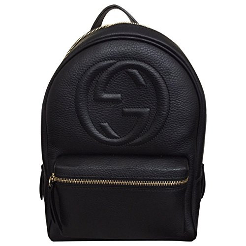 - Gucci Soho Black Backpack Calf Leather Backpack Ladies Bag Italy New