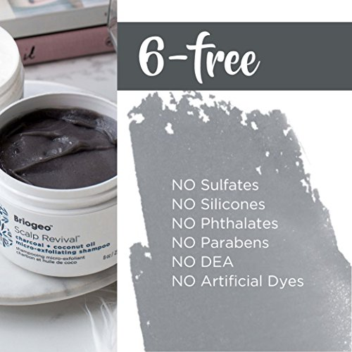 Briogeo - Scalp Revival Charcoal + Coconut Oil Micro-Exfoliating Shampoo - Combats and Prevents a Dry, Flaky, Itchy Scalp, 8 oz by Briogeo (Image #4)