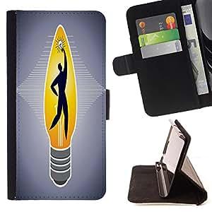 King Case - FOR Samsung ALPHA G850 - no royal road to learning - Prima caja de la PU billetera de cuero con ranuras para tarjetas, efectivo Compartimiento desmontable y correa para la mu?eca