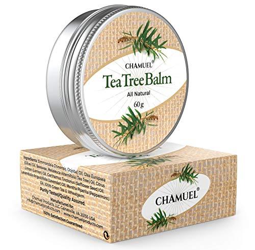 Chamuel Tea Tree - Balsamo de aceite de, 100% natural para irritaciones de la pielMuy versatil-ideal para el eccema, las erupciones, la piel seca/agrietada, las picaduras de insectos, y mucho mas