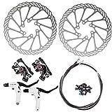 AFTERPARTZ NV-5 G3/ HS1 Bike Disc Brake Kit Front + Rear Rotor (NV-5 G3 Black Kit with handle)