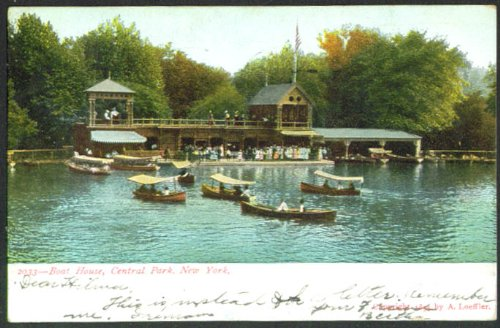 (The Boat House Central Park New York City undivided back postcard 1906)