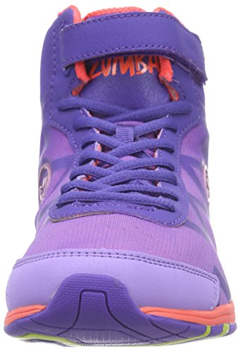 Zumba Flex Ii Remix High, Women's Fitness Shoes Purple/Neon Orange