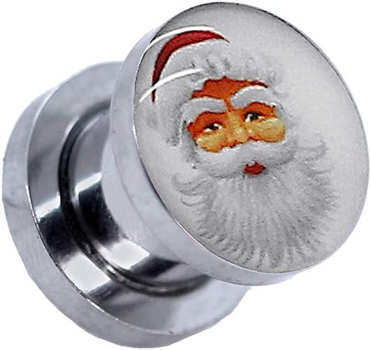 1x ou Set Flesh Tunnel Plug Acier à Visser Oreille Argent 1,6 2 3 4 5 6 8 10 mm