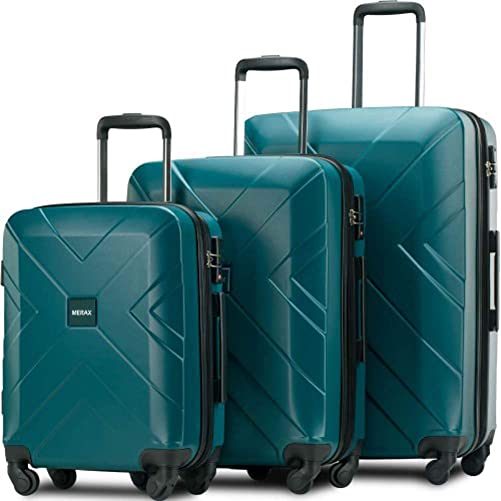 3 Piece Hardside Expanable Luggage Sets with Spinner Wheels TSA Lock