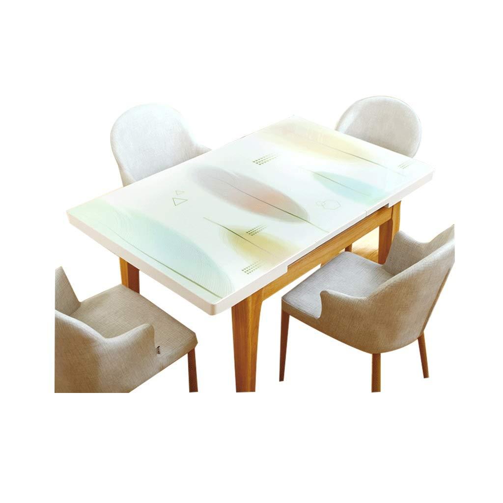 LIGONG レストランデスクトップ保護ステッカー防水pvc柔らかいガラステーブルマットテーブルコーヒーテーブルデスクプラスチックマルチサイズ (サイズ さいず : 90*150cm) 90*150cm  B07RR1ZDHD